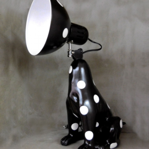 DogLamp PolkaDot Black