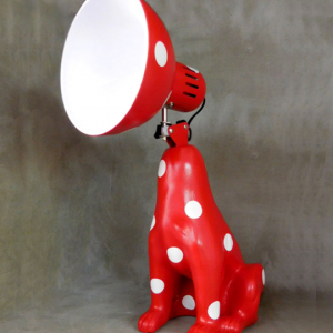 DogLamp PolkaDot Red