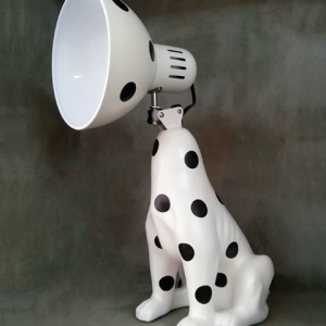 DogLamp PolkaDot White